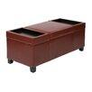 Office Star Products Bassett Geneva Eco Leather Storage Ottoman