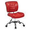 Office Star Products Mid-Back Task Chair with Chrome Accents