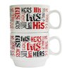 Style Setter His and Hers 2 Piece 14 oz. Mug Set