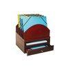 Bindertek Stacking Wood Desk Organizers Step Up File/Tray/Drawer Kit