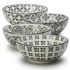 Signature Housewares Print 1 4 Piece Dining Bowl Set