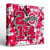 Victory Tailgate NCAA Ohio State University Buckeyes Fight Song Graphic Art on Wrapped Canvas