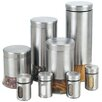 Cook N Home 8 Piece Stainless Steel Canister & Spice Jar Set