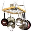 Cooks Standard Ceiling Mount Wooden Pot Rack, 24 by 18-Inch