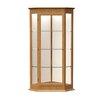 Waddell Varsity Series Corner Display Case with 1 Hinged Door