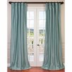 Half Price Drapes Faux Silk Taffeta Single Curtain Panel