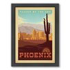 Americanflat Phoenix Framed Vintage Advertisement