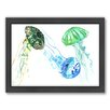 Americanflat Jelly Fishs by Suren Nersisyan Framed Painting Print