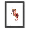 Americanflat Seahorse Framed Painting Print