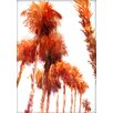 Americanflat Trees by Suren Nersisyan Painting Print in Orange