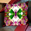 Americanflat Neon Rose Red 2 Throw Pillow