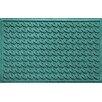 Bungalow Flooring Aqua Shield Houndstooth Doormat