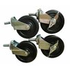 Excel Hardware Casters Kit for All Excel NSF Shelving (Set of 4)