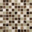 """MS International Alicante Blend 1"""" x 1""""  Glass and Natural Stone Mosaic Tile in Multi"""