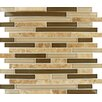 MS International Interlocking Random Sized Glass and Natural Stone Mosaic Tile in Multi