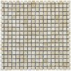 "MS International Durango Cream 0.625"" x 0.625"" Travertine Mosaic Tile in Beige"
