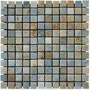 """MS International 1"""" x 1"""" Slate Mosaic Tile in Golden White"""