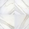 "MS International Pietra Calacatta 12"" x 12"" Porcelain Field Tile in White"