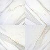 "MS International Pietra Calacatta 18"" x 18"" Porcelain Field Tile in White"