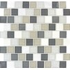 "MS International Glacier Peak Mounted 1.25"" x 1.25"" Glass Stone Mosaic Tile in Multi"