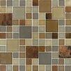 MS International Metropolitan Mounted Blend Random Sized Glass and Metal Mosaic Tile in Brown