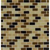 MS International Desert Spring Mounted Glass Mosaic Tile in Brown