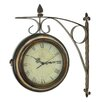 "Aspire Rialto 15"" Two Sided Train Station Wall Clock"
