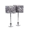 """Aspire Zebra 25"""" H Table Lamp with Drum Shade (Set of 2)"""