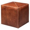 Jamie Young Company Small Leather Cube Ottoman