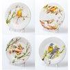 Abigails 4 Piece Decorative Birds Dessert Plate Set