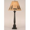 """Coast Lamp Mfg. Rustic Living Square Candlestick 33"""" H Table Lamp with Empire Shade"""