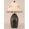 "Coast Lamp Mfg. Rustic Living Ginger Jar Ribbed Pot 28.5"" H Table Lamp with Empire Shade"