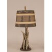 "Coast Lamp Mfg. Rustic Living Stick 24"" H Accent Table Lamp with Empire Shade"