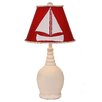 "Coast Lamp Mfg. Coastal Living Round 23.5"" H Table Lamp with Empire Shade"