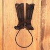 "Coast Lamp Mfg. Boot 12.5"" Wall Mounted Hand Towel Holder"