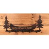 Coast Lamp Mfg. Pine Trees and Canoe Personalized Coat Rack