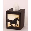 Coast Lamp Mfg. Horse Square Tissue Box Cover