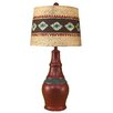 """Coast Lamp Mfg. Casual Pot with Ribbed Accent 29.5"""" H Table Lamp with Drum Shade"""