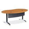 Virco Plateau Ellipse Office Training Table with Bi-Point Leg