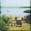 West of the Wind Outdoor Canvas Art Restful View Painting Print on Wrapped Canvas
