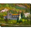 West of the Wind Outdoor Canvas Art Monastery of Spoleto Painting Print on Wrapped Canvas