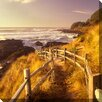 West of the Wind Outdoor Canvas Art Pathway To Beach Photographic Print on Wrapped Canvas