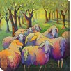 West of the Wind Outdoor Canvas Art Knitting Circle Painting Print on Wrapped Canvas