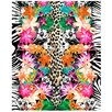 Kaufman Sales Animal and Flower Print Beach Towel