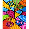 Kaufman Sales Peace Heart Print Beach Towel