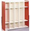 TotMate 1000 Series 1 Tier 5-Section Cubbie Preschool Locker