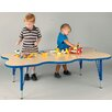 "TotMate ""My Place"" Play Rectangular Geometric Classroom Table"