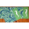 Rightside Design I Sea Life Paisley Printed Applique Seahorse Placemat (Set of 4)