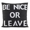 Alexandra Ferguson House Rules Be Nice or Leave Throw Pillow