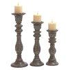Woodland Imports 3 Piece Candle Holder Set VII